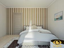 3D-дизайн спальной в квартире Греции, купить
